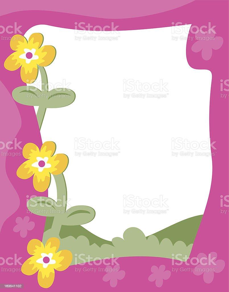 Garden Border Royalty Free Stock Vector Art