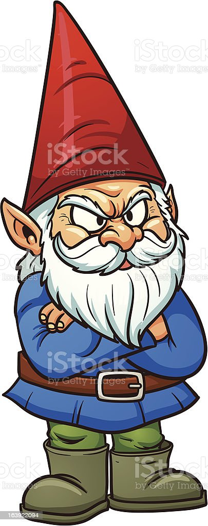 royalty free garden gnome clip art vector images illustrations rh istockphoto com cute gnome clipart cute gnome clipart