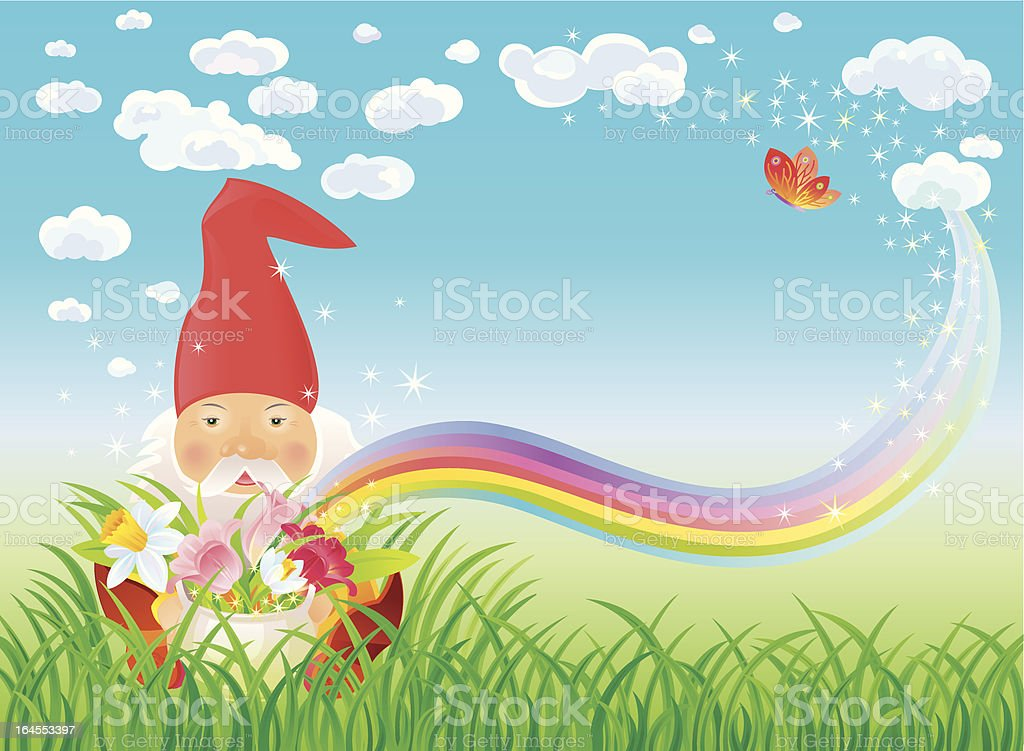 Garden Gnome royalty-free garden gnome stock vector art & more images of adult