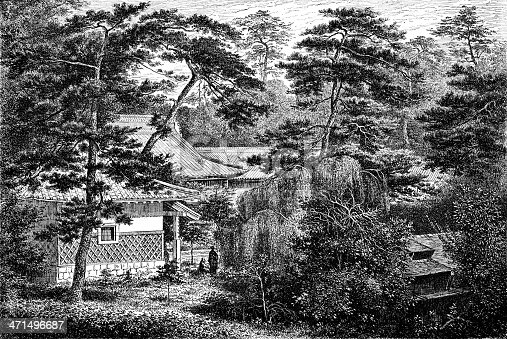 part of the garden of the British legation (Yedo)