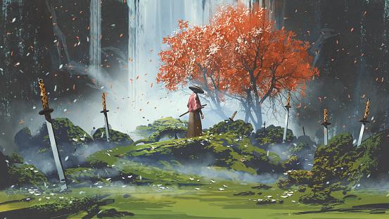 garden of the katana swords