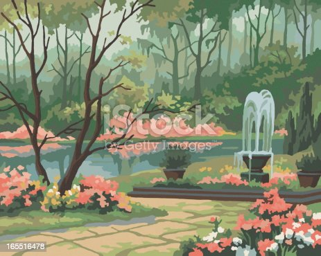Garden Scene Paint By Number