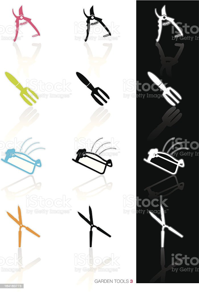 Garden Tools Icons royalty-free garden tools icons stock vector art & more images of black color