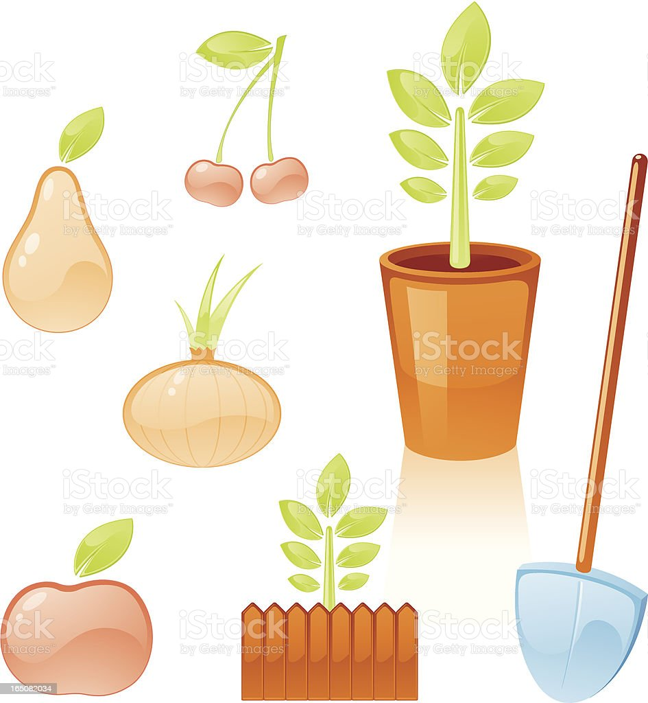 Gardening Icons royalty-free gardening icons stock vector art & more images of apple - fruit