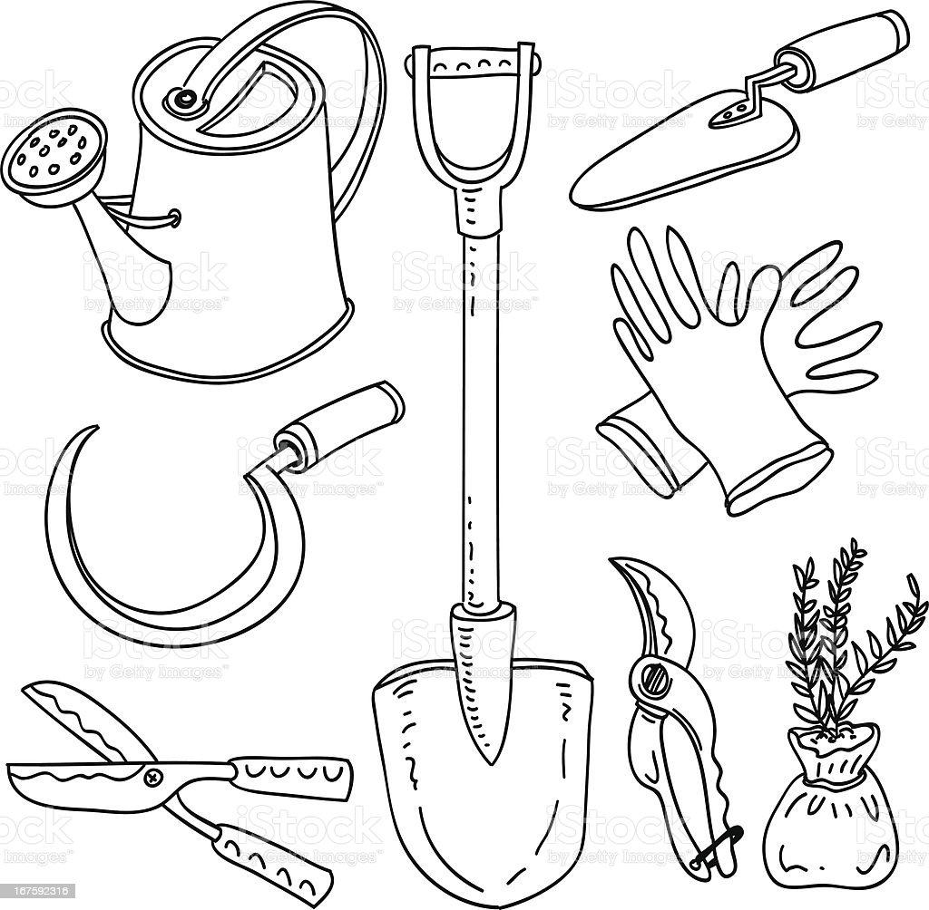 Gardening tools collection royalty-free gardening tools collection stock vector art & more images of agriculture