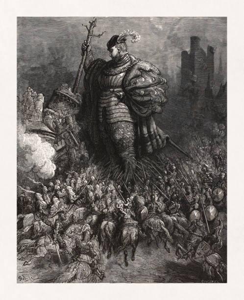Gargantua from the works of Rabelais vector art illustration