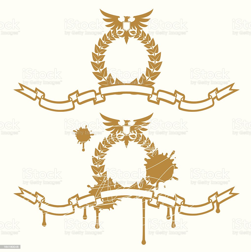 Garland With Eagle royalty-free stock vector art