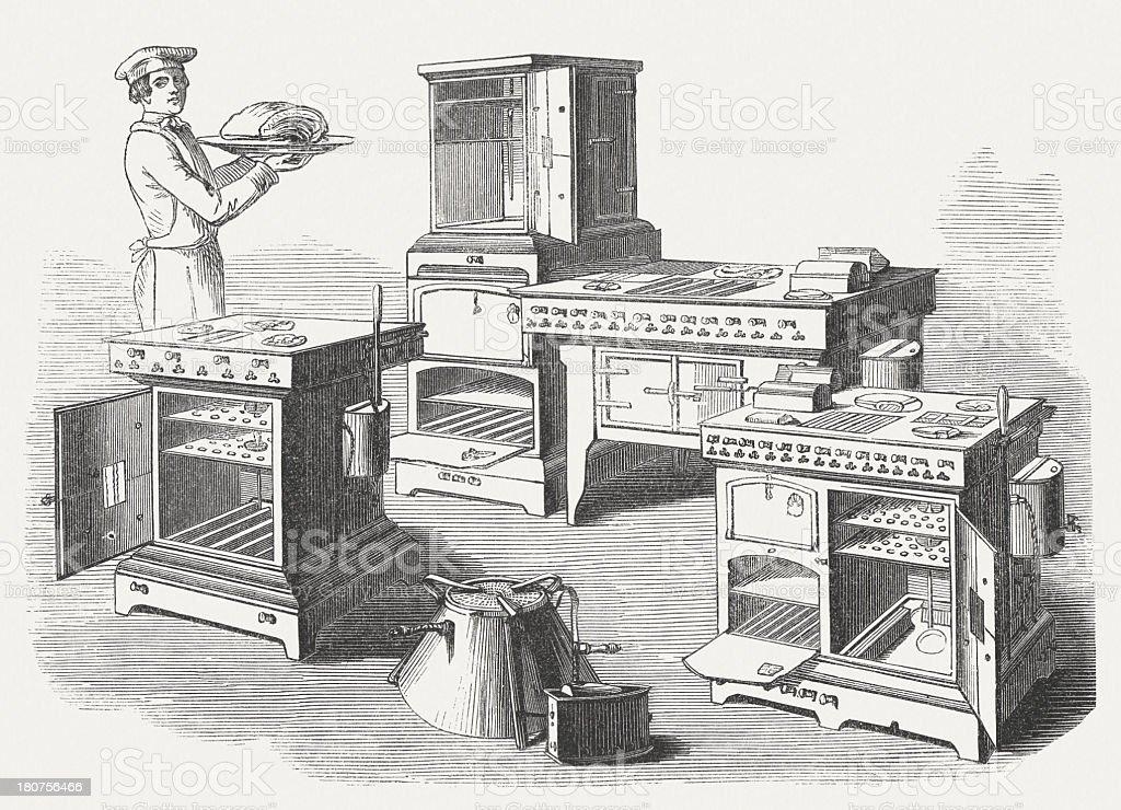 ガスストーブ1854 年に操業を発...