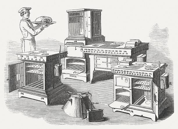 gas-herd, veröffentlichte im jahr 1854 - kuqa stock-grafiken, -clipart, -cartoons und -symbole