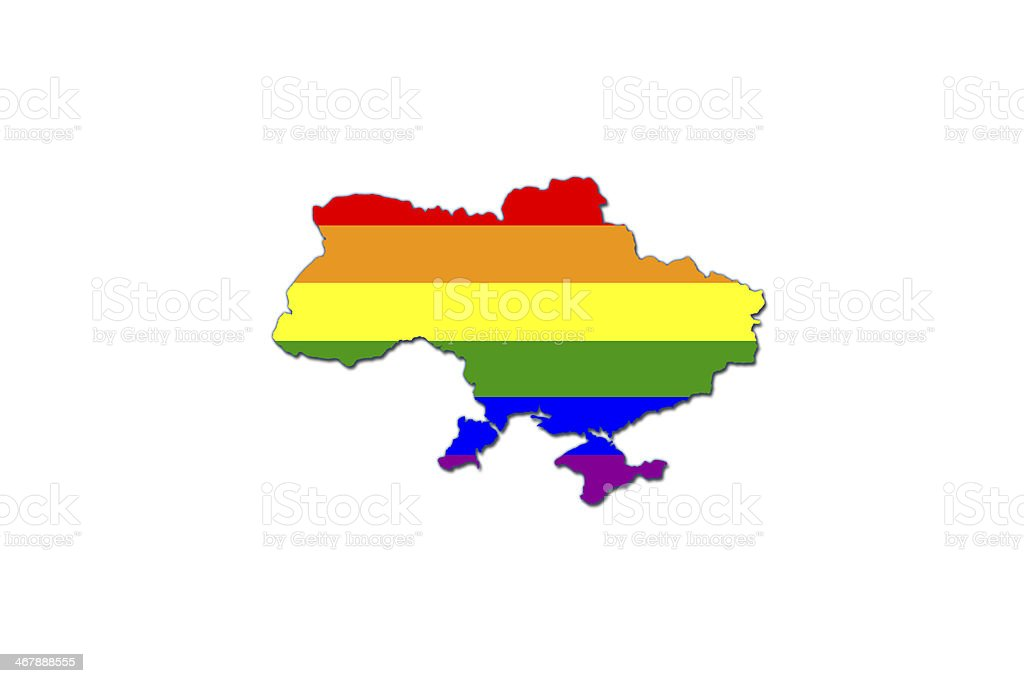 Gay flag in ukrainian map. royalty-free gay flag in ukrainian map stock vector art & more images of army