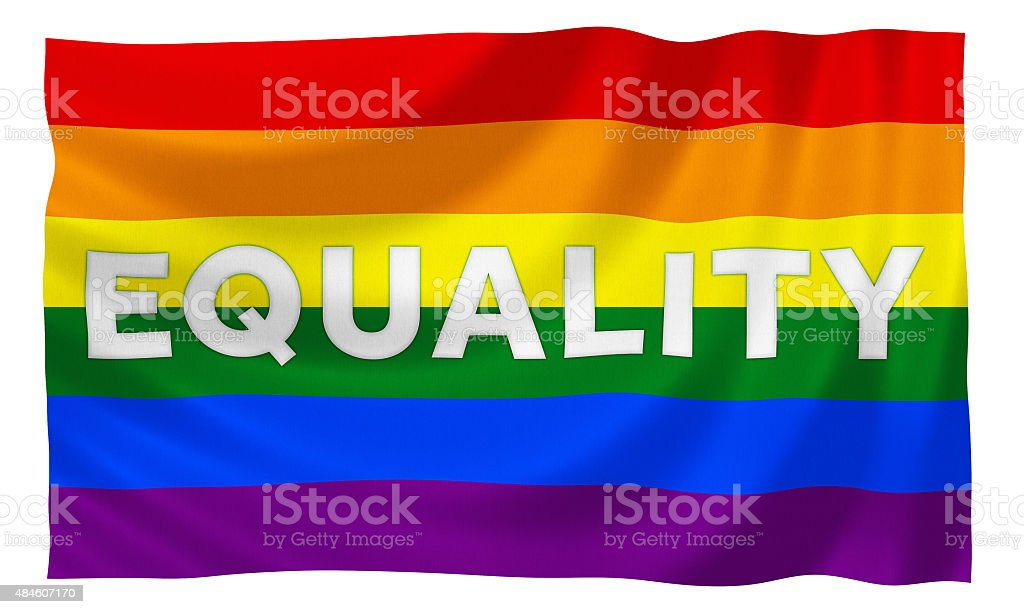 Gay rainbow equality flag vector art illustration