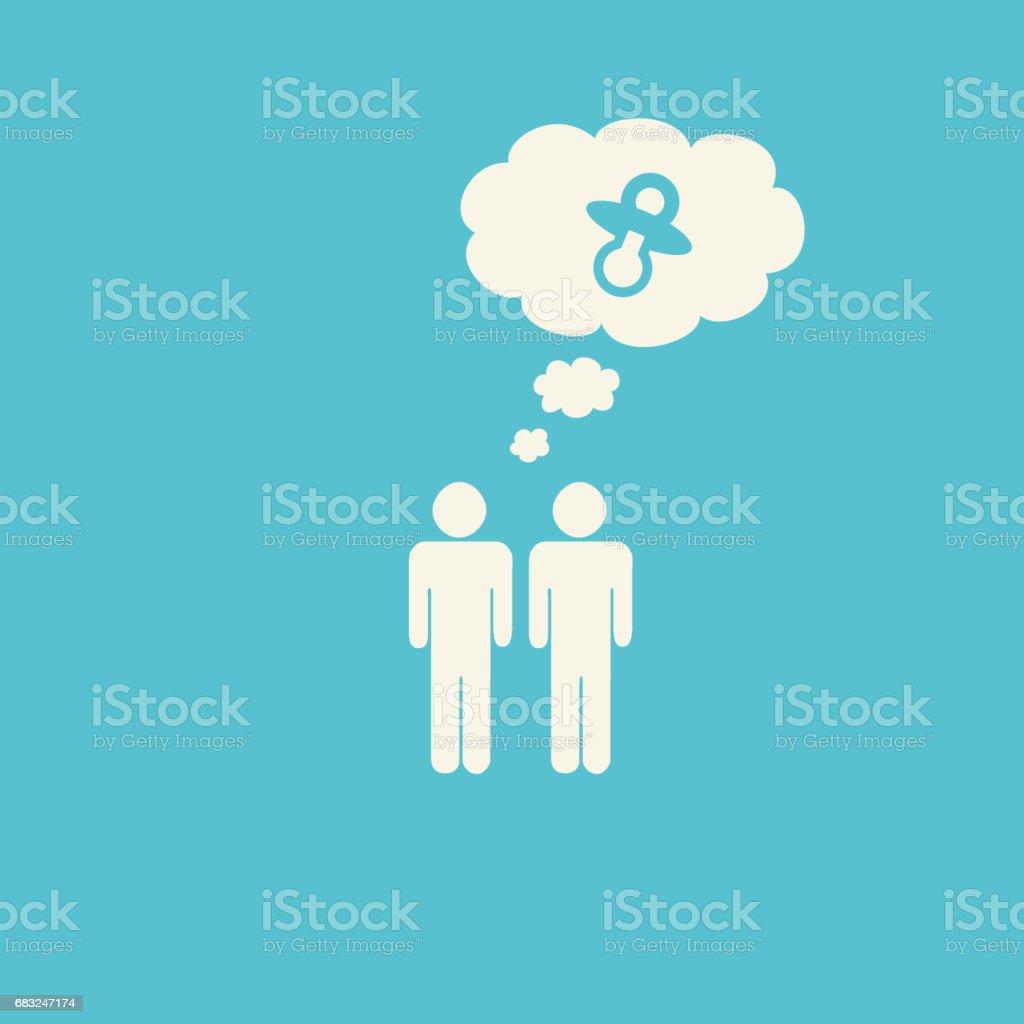 Gay same-sex parents graphic 免版稅 gay samesex parents graphic 向量插圖及更多 仔細考慮 圖片