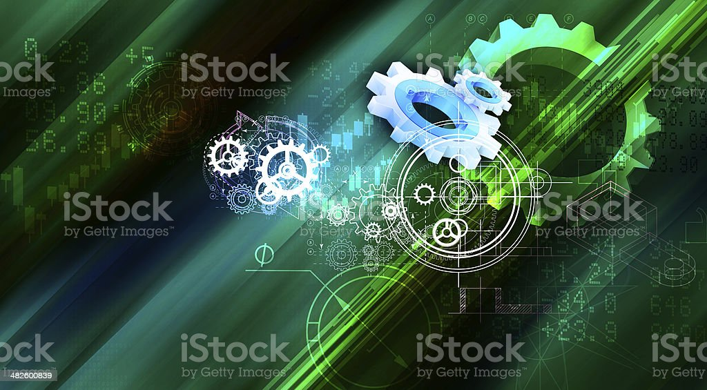 Gear Abstract Background royalty-free stock vector art