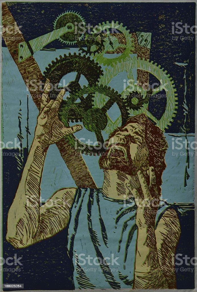 Gearheaded III vector art illustration