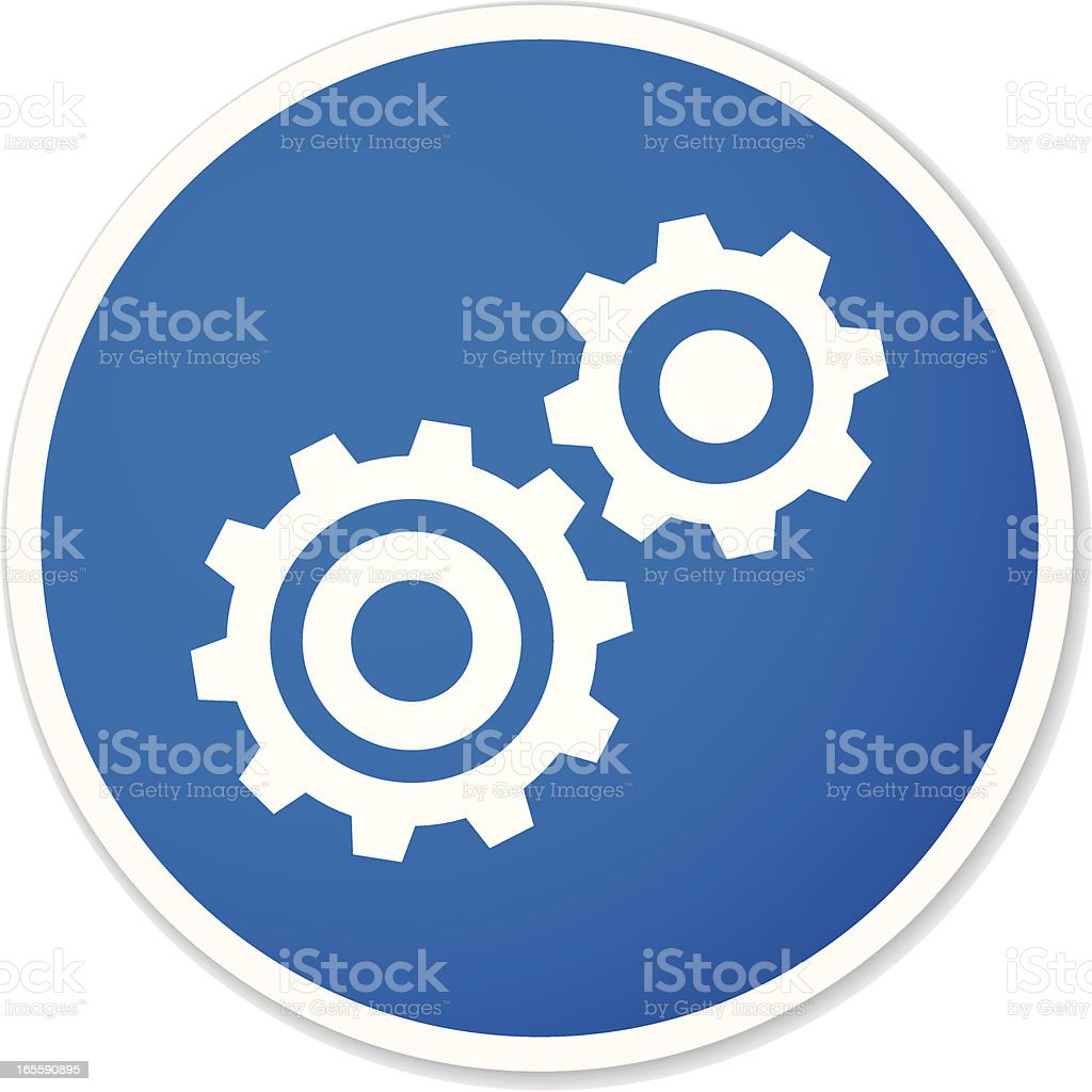 gears round sticker royalty-free stock vector art