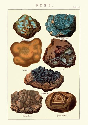 Gems, Turquoise, Lapis lazuli, Amber, Opal, Amethyst, Chalcedony, Agate pebble