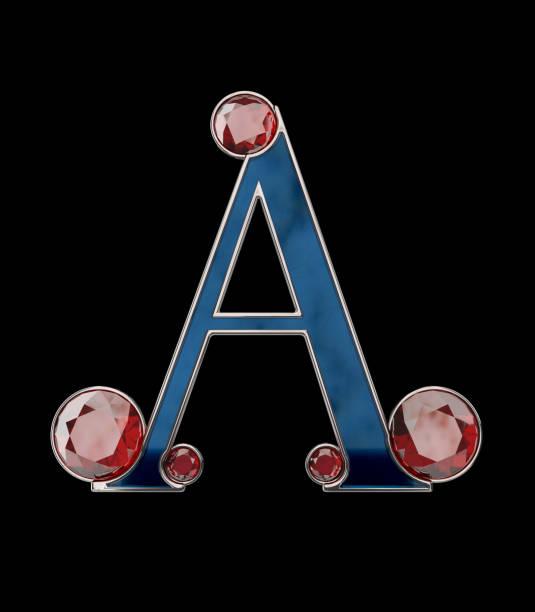 Gemstone Letters - 3D Rendering vector art illustration