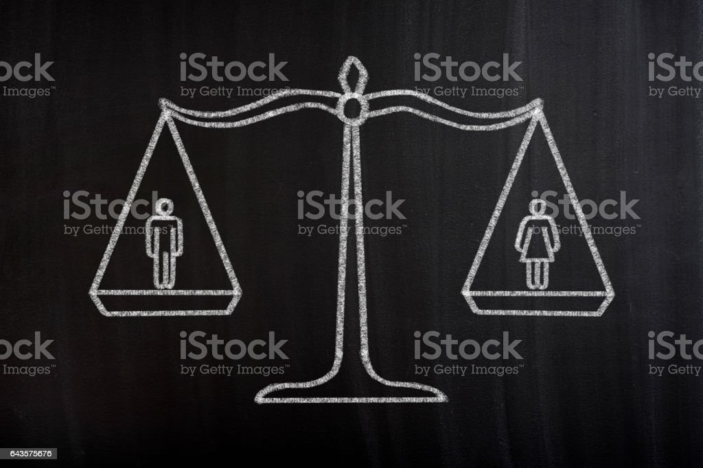 Gender Equality Scale Concept vector art illustration