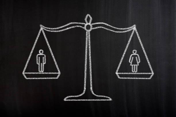 Gender Equality Scale Concept vector art illustration