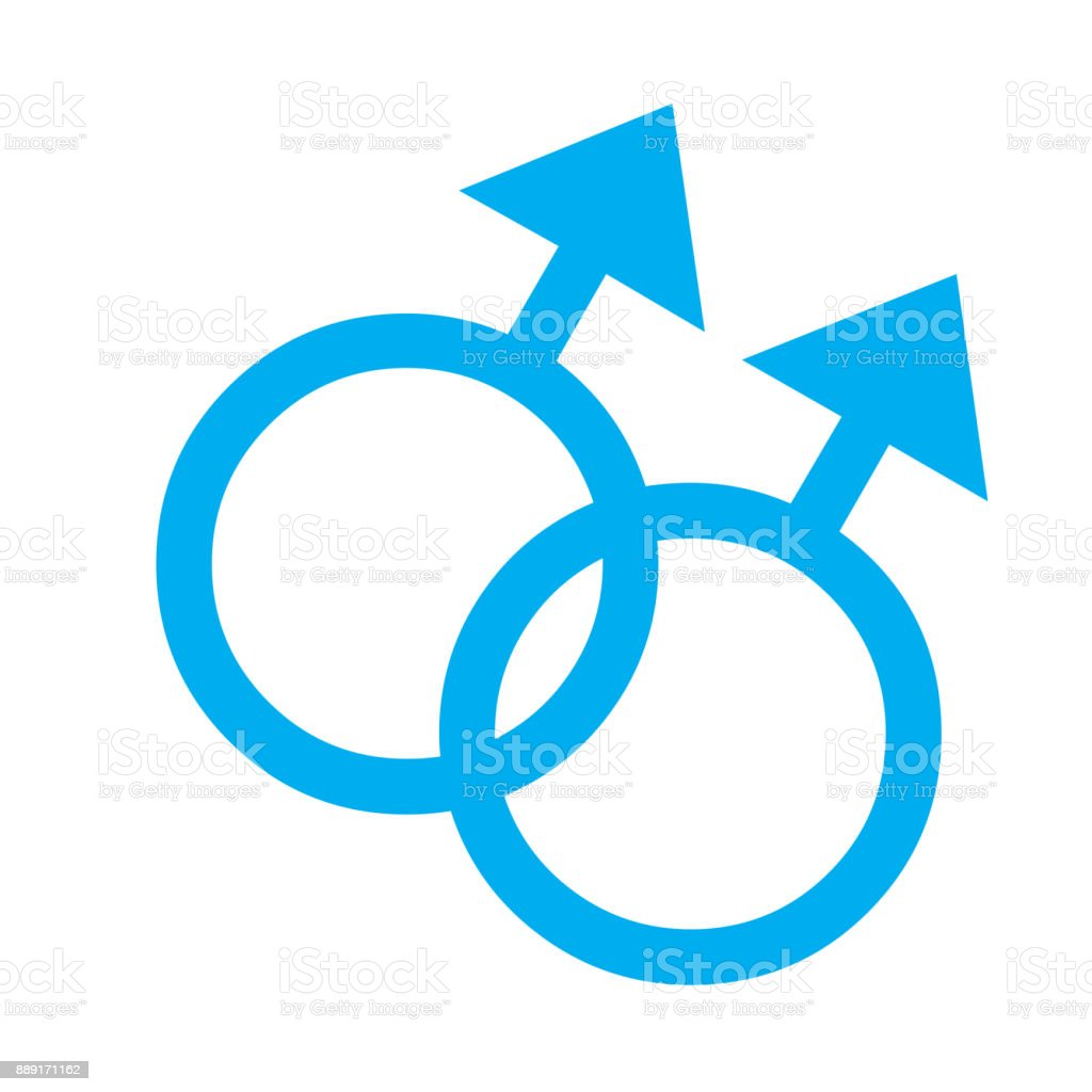 Gender Symbol Two Male Relationship Stock Vector Art More Images