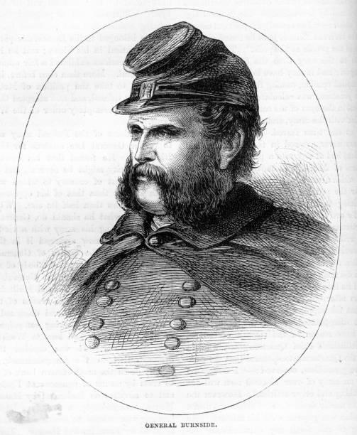 ilustrações, clipart, desenhos animados e ícones de general ambrose burnside - brigadeiro