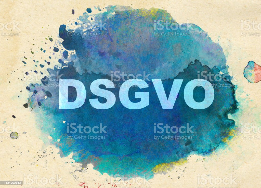 DSGVO -     General Data Protection Regulation vector art illustration