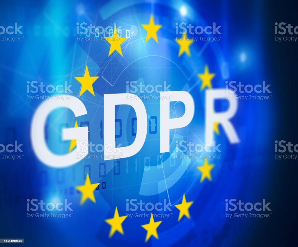 GDPR general data protection regulation vector art illustration