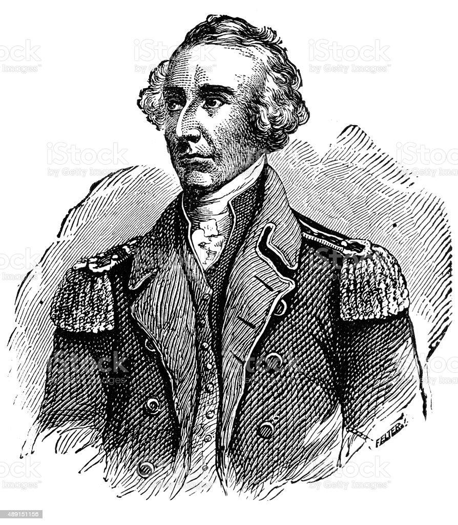 General Francis Marion vector art illustration