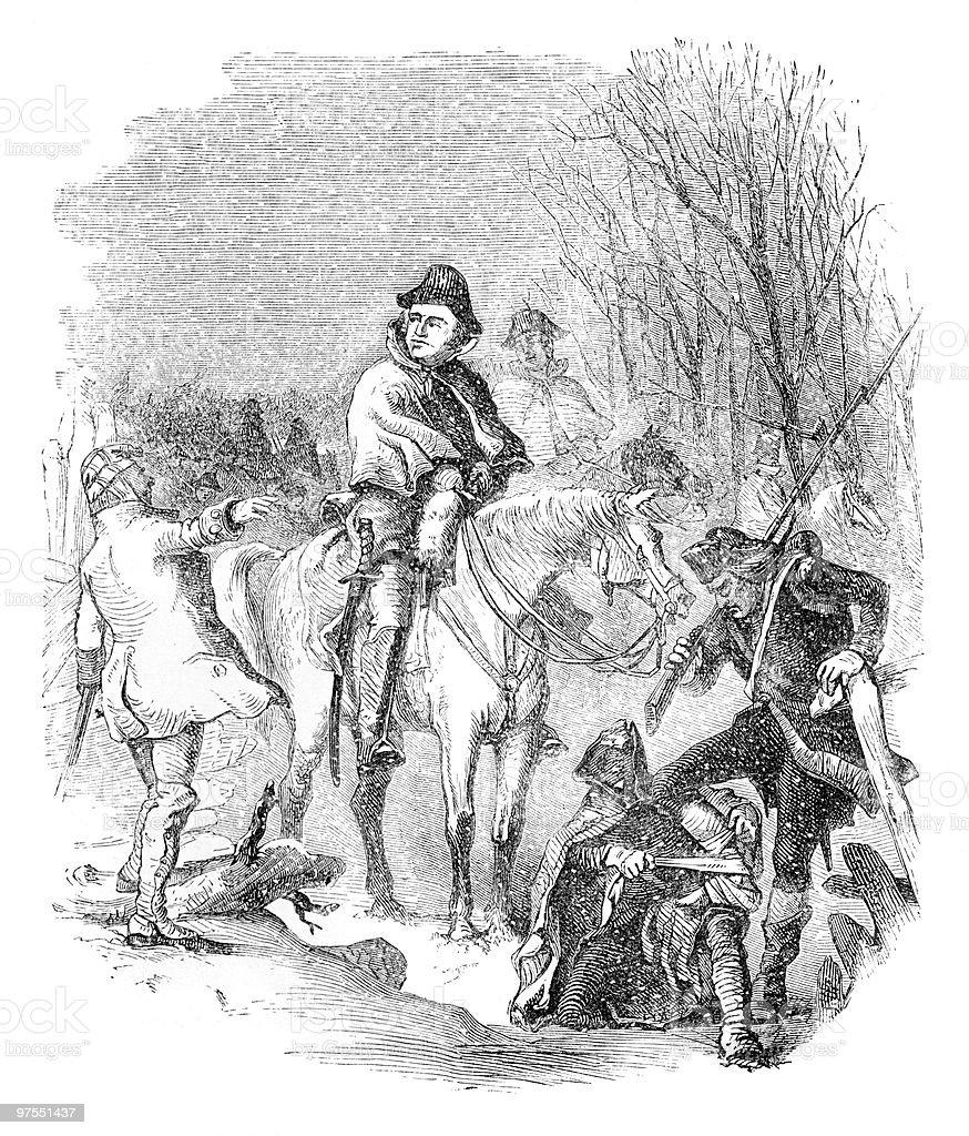 Général de George Washington en hiver général de george washington en hiver – cliparts vectoriels et plus d'images de 4 juillet libre de droits