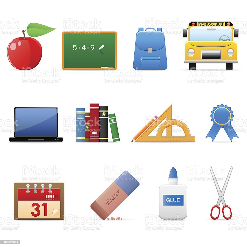 General icons - education (set 17) royalty-free stock vector art