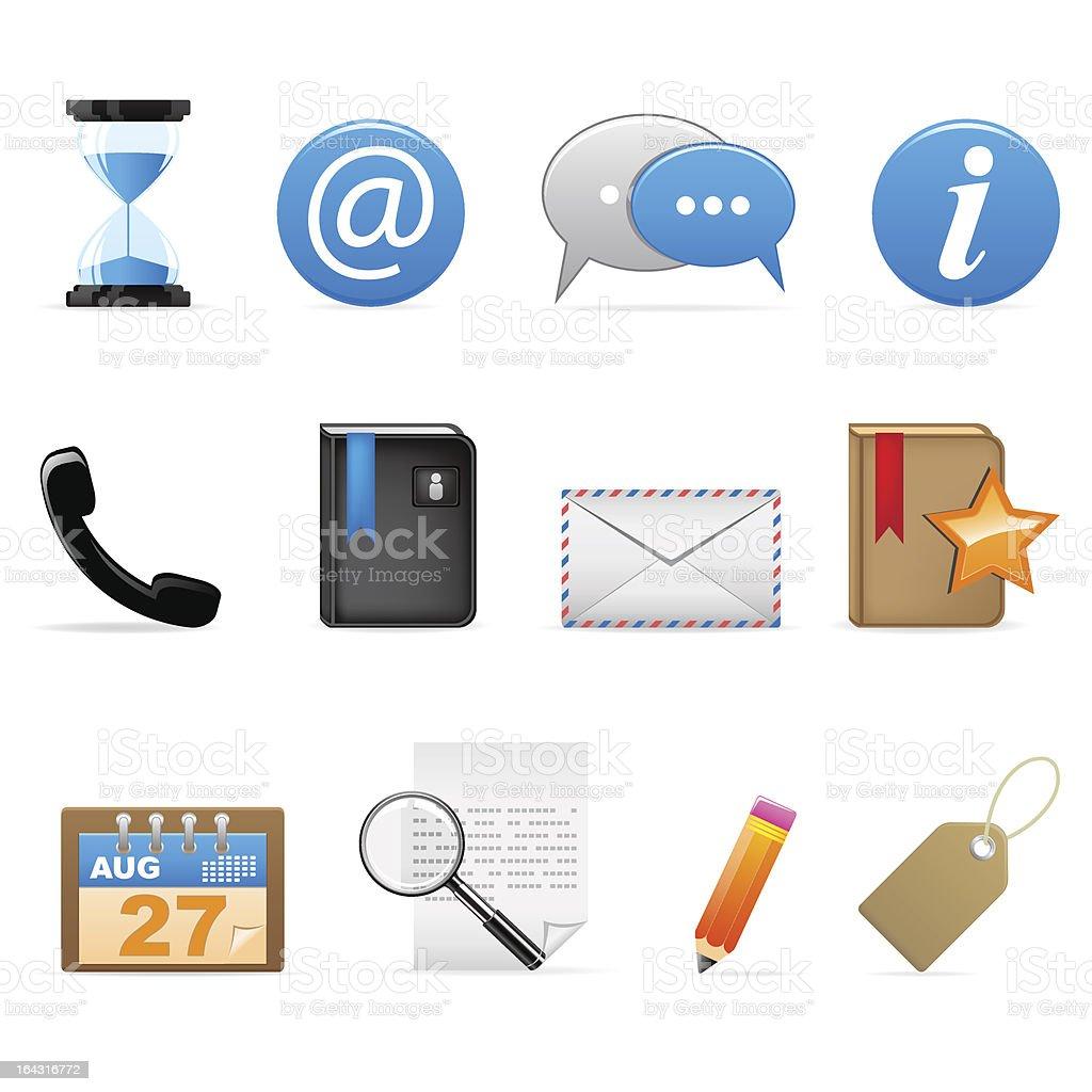 General icons - social media (set 16) royalty-free stock vector art