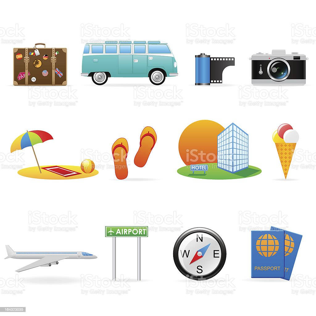 General icons - travel (set 8) royalty-free stock vector art