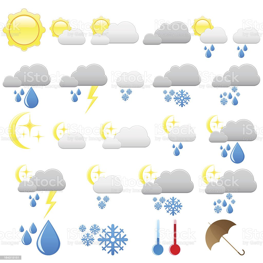 General icons - weather (set 13) royalty-free stock vector art