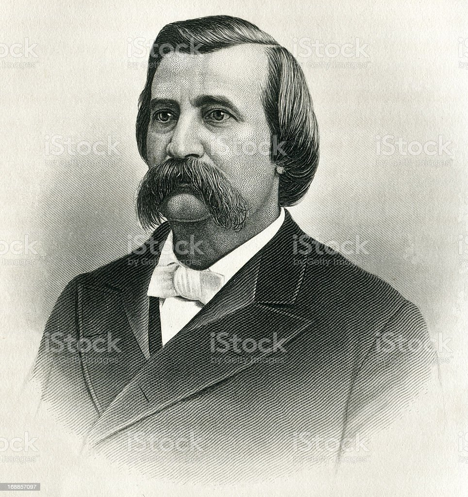 General John Alexander Logan royalty-free stock vector art