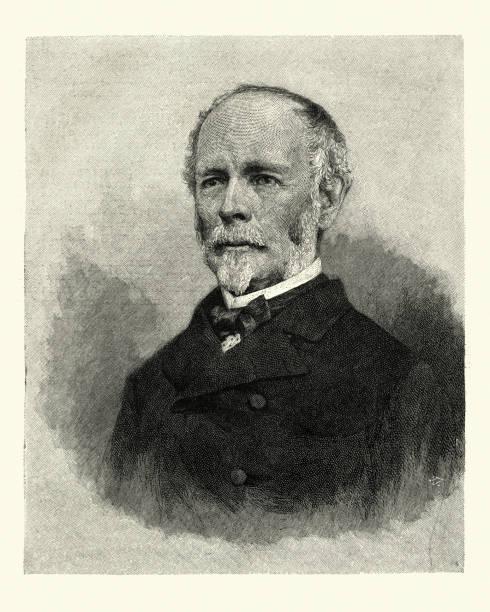 General Joseph E. Johnston, 1867 vector art illustration