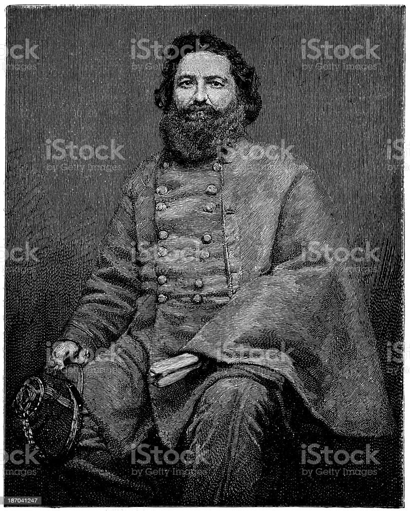 General Lafayette McLaws,1865. royalty-free stock vector art