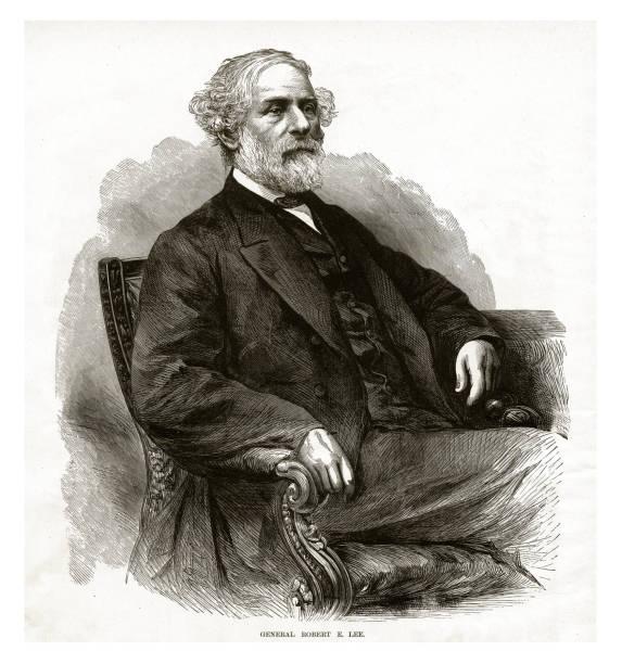 ilustrações, clipart, desenhos animados e ícones de gravura de guerra civil do general robert e. lee - brigadeiro