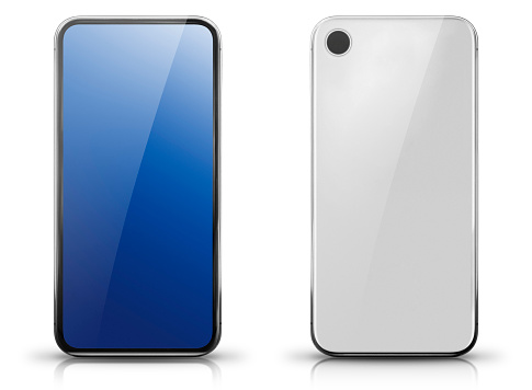 Generic Big Screen Smartphone Front and Rear View