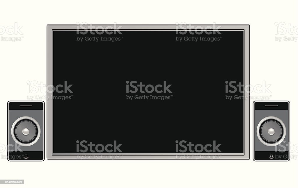 Generic tv and speakers royalty-free stock vector art