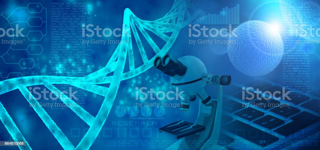 genetic research concept vector art illustration