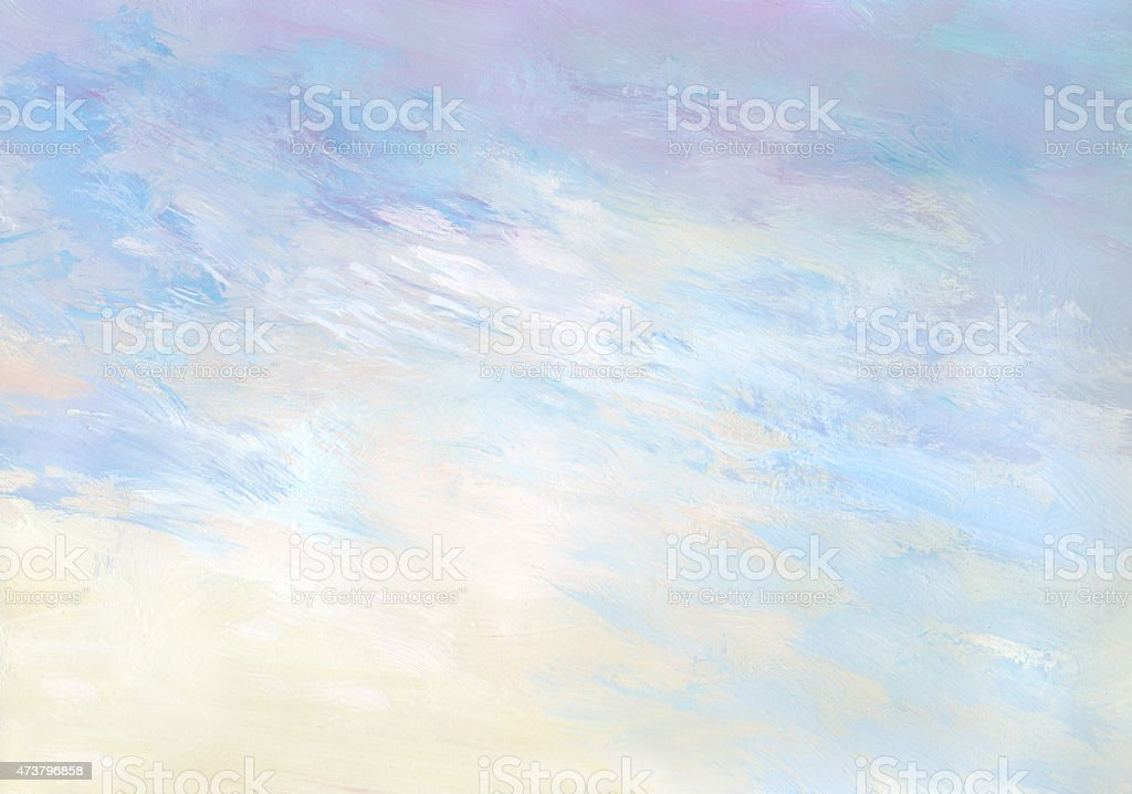 Gentle sunrise - abstract painted background vector art illustration