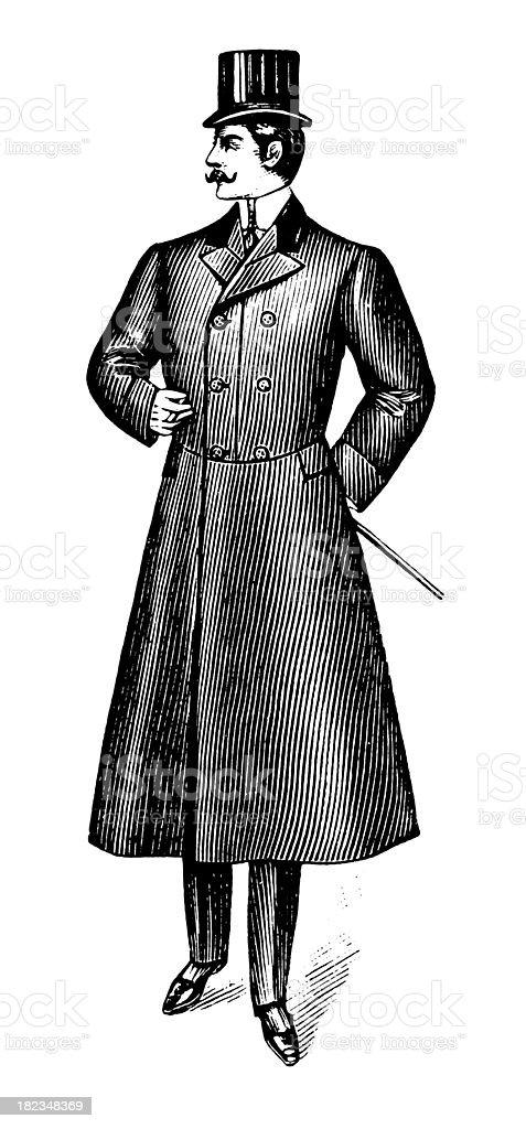 Gentleman   Antique Design Illustrations vector art illustration