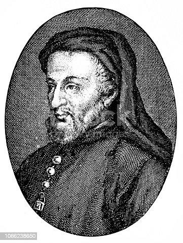 Illutartion of a Geoffrey Chaucer