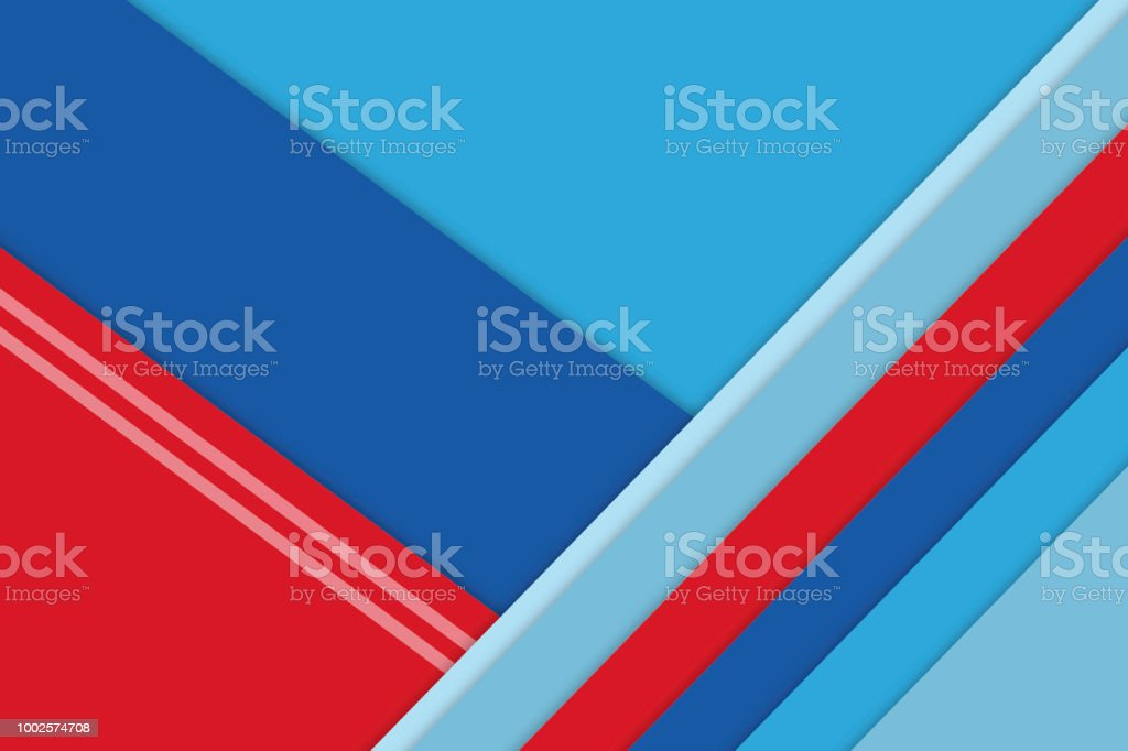 Geometric Diagonal Shapes Background Or Wallpaper In Colorful Red White And Blue