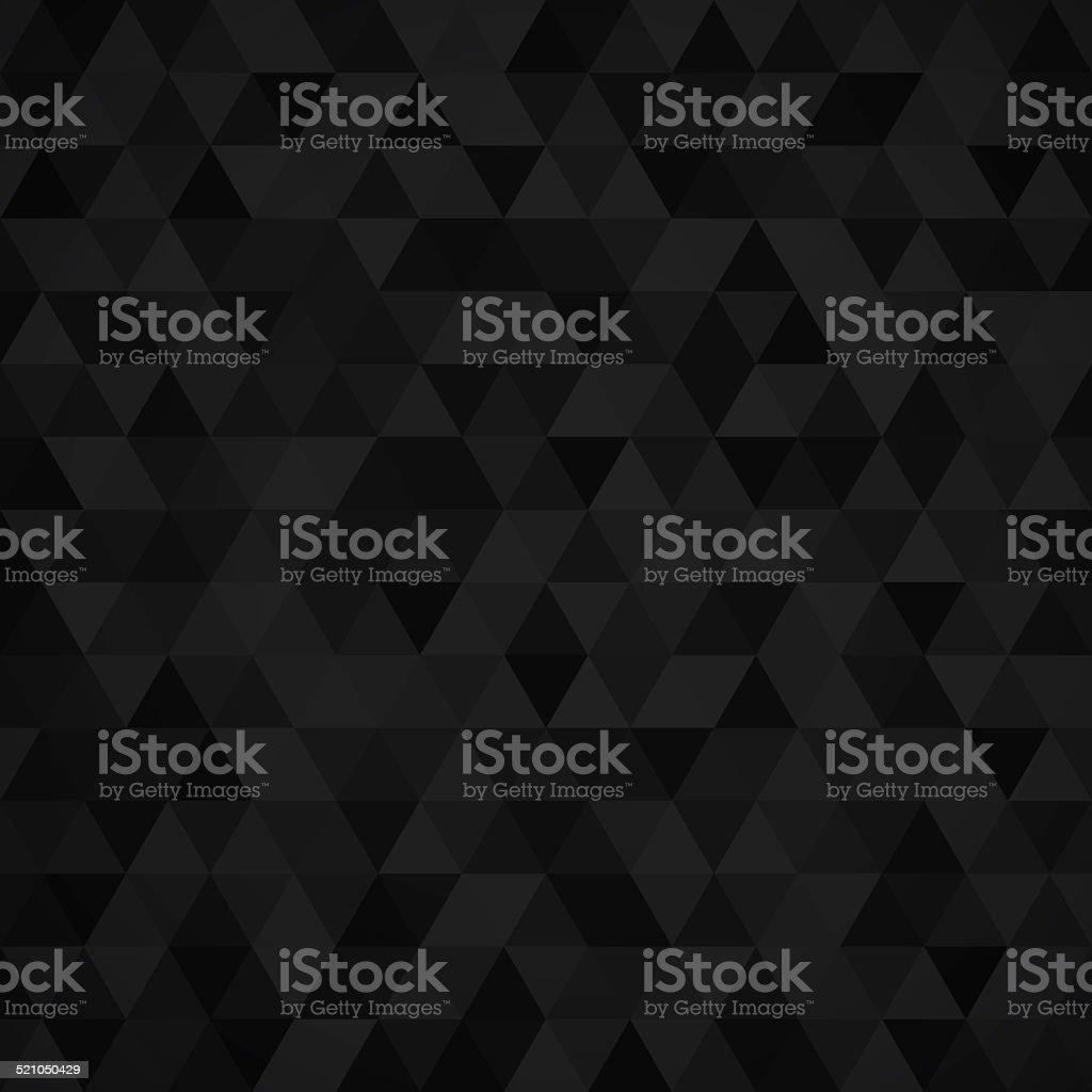 Geometric mosaic pattern from black triangle vector art illustration