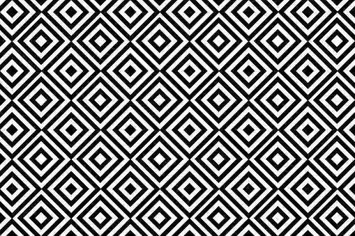 Geometric Pattern Black And White Design For Wallpaper Fabric Textile Wrapping Simple Background стоковая векторная графика и другие изображения на