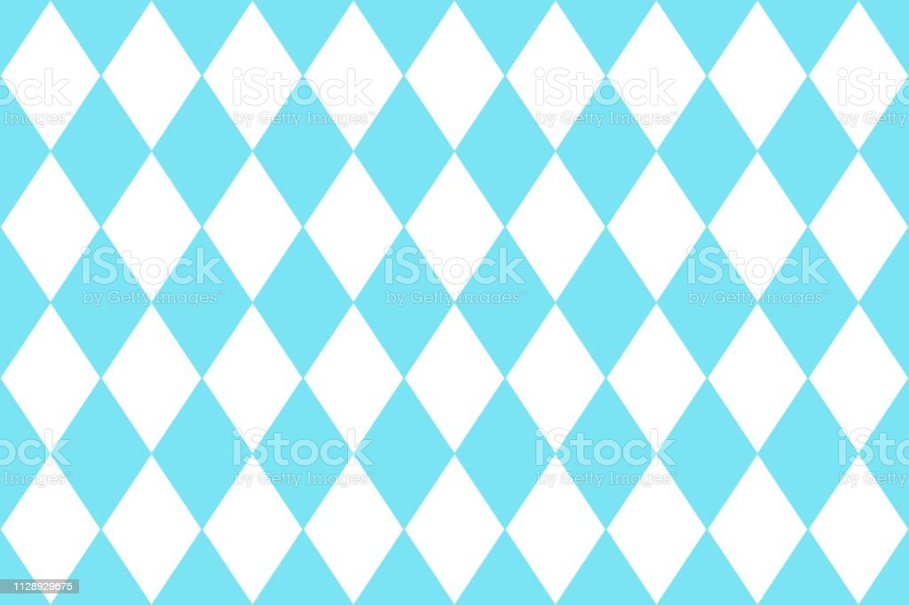 Geometric Pattern Blue And White Design For Wallpaper Fabric