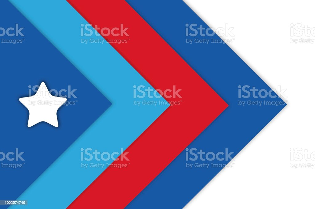 Geometric Shapes Background Or Wallpaper In Patriotic Red White And Blue Colors