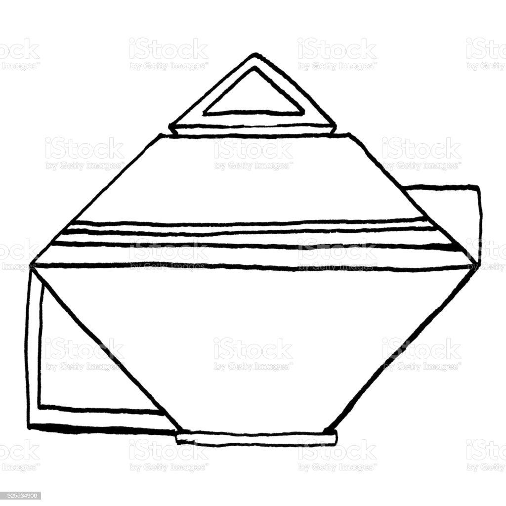 Ilustración de Tetera Geométrica y más banco de imágenes de Acogedor ...