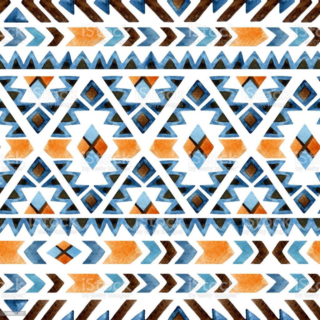 Geometrical ethnic seamless pattern vector art illustration